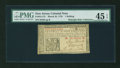Colonial Notes:New Jersey, New Jersey March 25, 1776 1s PMG Choice Extremely Fine 45 EPQ....