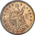 Seated Half Dimes, 1853-O H10C No Arrows MS63 PCGS. CAC....