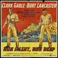 "Movie Posters:War, Run Silent, Run Deep (United Artists, 1958). Six Sheet (81"" X 81"").War.. ..."