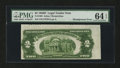 Error Notes:Skewed Reverse Printing, Fr. 1505 $2 1928D Legal Tender Note. PMG Choice Uncirculated 64EPQ.. ...
