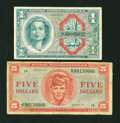 Military Payment Certificates:Series 611, Series 611 $1 Replacement VF. Series 611 $5 Replacement VG.. ... (Total: 2 notes)