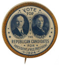 Political:Pinback Buttons (1896-present), Coolidge & Dawes: One of the Most Beautiful Large Jugate Pinbacks of the 1920s Era. ...