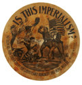 Political:Pinback Buttons (1896-present), William McKinley: One of the Rarest and Best of All Cartoon Button Designs from His Golden Era....