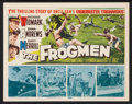 "Movie Posters:War, The Frogmen Lot (20th Century Fox, 1951). Title Lobby Card andLobby Cards (3) (11"" X 14""). War.. ... (Total: 4 Items)"