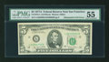 Error Notes:Mismatched Serial Numbers, Fr. 1975-L $5 1977A Federal Reserve Note. PMG About Uncirculated 55.. ...