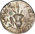 Ancients:Judaea, Ancients: Judaea. Bar Kochba Revolt. 132-135 C.E. AR sela (25 mm, 10.85 g, 12 h)....