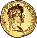 Ancients:Roman Imperial, Ancients: Tiberius. A.D. 14-37. AV aureus (19 mm, 7.71 g, 4 h)....