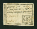 Colonial Notes:Georgia, Georgia 1776 $1/2 Very Fine....