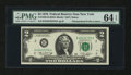 Error Notes:Mismatched Prefix Letters, Fr. 1935-B $2 1976 Federal Reserve Note. PMG Choice Uncirculated 64EPQ.. ...