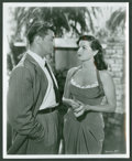 """Movie Posters:Crime, Robert Mitchum and Jane Russell in """"His Kind of Woman"""" (RKO, 1951).Still (8"""" X 10""""). Crime.. ..."""