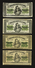 Canadian Currency: , Canadian Small Change Quartet.. ... (Total: 4 notes)