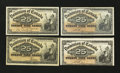 Canadian Currency: , 1900 Canadian Fractionals.. ... (Total: 4 notes)