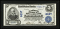 National Bank Notes:Pennsylvania, Pittsburgh, PA - $5 1902 Plain Back Fr. 605 The Marine NB Ch. #2237. ...