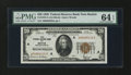 Small Size:Federal Reserve Bank Notes, Fr. 1870-A $20 1929 Federal Reserve Bank Note. PMG Choice Uncirculated 64 EPQ.. ...