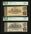 Confederate Notes:1863 Issues, Two Different Confederate $20's PCGS Graded.. ... (Total: 2 notes)