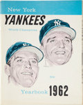 Baseball Collectibles:Publications, 1962 New York Yankees Yearbook....