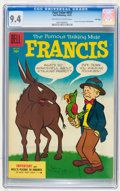 Golden Age (1938-1955):Cartoon Character, Four Color #655 Francis the Famous Talking Mule - File Copy (Dell,1955) CGC NM 9.4 Off-white to white pages....