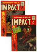 Golden Age (1938-1955):Horror, Impact #2 and 4 Group (EC, 1955).... (Total: 2 Comic Books)