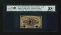 Fractional Currency:Third Issue, Milton 3E10.2 10¢ Third Issue Experimental PMG Choice About Unc 58 EPQ....