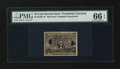 Fractional Currency:Second Issue, Milton 2E25F.3f 25¢ Second Issue Experimental PMG Gem Uncirculated 66 EPQ....