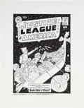 Original Comic Art:Covers, Fred Hembeck Justice League of America #3 CoverRe-Interpretation Original Art (1994)....