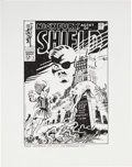 Original Comic Art:Covers, Fred Hembeck Nick Fury, Agent of S.H.I.E.L.D. #3 CoverRe-Interpretation Original Art (1995)....