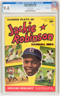 Golden Age (1938-1955):Miscellaneous, Jackie Robinson #6 Crowley Copy (Fawcett, 1952) CGC NM 9.4 Off-white pages....