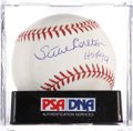 Autographs:Baseballs, Steve Carlton Single Signed Baseball PSA Mint 9....