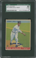 Baseball Cards:Singles (1930-1939), 1933 Goudey Red Faber #79 SGC 80 EX/NM 6....