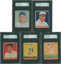Baseball Cards:Lots, 1933 Goudey SGC Graded 60 EX 5 Cards Lot of 5....