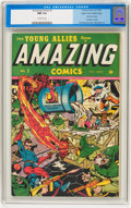 Golden Age (1938-1955):Superhero, Amazing Comics #1 Mile High pedigree (Timely, 1944) CGC NM 9.4 Off-white pages....