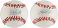 Autographs:Baseballs, Bo Jackson and George Brett Single Signed Baseballs Lot of 2....(Total: 2 items)