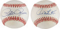 Autographs:Baseballs, Pete Rose and Paul Molitor Single Signed Baseballs Lot of 2....(Total: 2 items)
