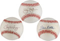 Autographs:Baseballs, Star Pitchers Single Signed Baseballs Lot of 3.... (Total: 3 items)
