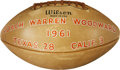 Football Collectibles:Balls, 1961 University of Texas Longhorns Team Signed Game Football....