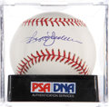 Autographs:Baseballs, Reggie Jackson Single Signed Baseball PSA Mint+ 9.5....