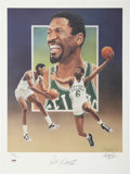 Autographs:Others, Bill Russell Signed Lithograph by Christopher Paluso....
