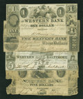 Obsoletes By State:Maryland, Baltimore, MD- Western Bank Notes. Four Examples.. ... (Total: 4 notes)
