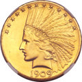 Proof Indian Eagles, 1909 $10 PR64 NGC. CAC....