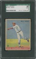 Baseball Cards:Singles (1930-1939), 1933 Goudey Bill Terry #20 SGC 80 EX/NM 6....