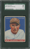 Baseball Cards:Singles (1930-1939), 1933 Goudey Charlie Ruffing #56 SGC 50 VG/EX 4....