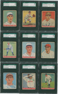 Baseball Cards:Singles (1930-1939), 1933 Goudey Baseball SGC-Graded Group Lot (9). ...