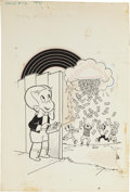 Original Comic Art:Covers, Warren Kremer Richie Rich #92 Cover Original Art (Harvey,1970)....