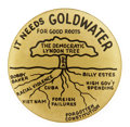 """Political:Pinback Buttons (1896-present), Barry Goldwater: Anti-Democratic """"Lyndon Tree""""...."""