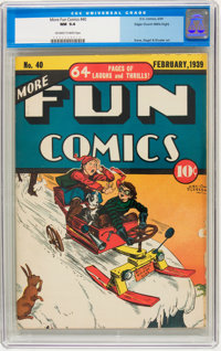 More Fun Comics #40 Mile High pedigree (DC, 1939) CGC NM 9.4 Off-white to white pages