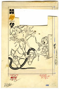 Original Comic Art:Covers, Rags Rabbit #15 Cover Original Art (Harvey, 1952)....