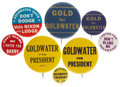 Political:Pinback Buttons (1896-present), Barry Goldwater: Lot of Seven Classic Goldwater Campaign Slogan Pinbacks.... (Total: 7 Items)