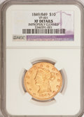 Liberty Eagles: , 1849 $10 --Improperly Cleaned--NGC. XF Details. VP-001. NGC Census:(62/629). PCGS Population (54/234). Mintage: 653,618. N...