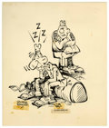 Original Comic Art:Illustrations, George Baker Sad Sack Illustration Original Art (Sad Sack,Inc., undated)....
