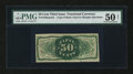 Fractional Currency:Third Issue, Fr. 1339SP 50¢ Third Issue Spinner Type II Narrow Margin Back PMG About Uncirculated 50 NET....